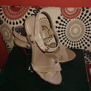 Ralph Lauren leather & suede Mocha Colored Sandals